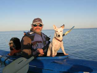 Blair Kayaking with dogs